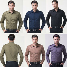 Cyber Monday 7Colors Men Slim Fit Evening Dress Long Sleeve Casual FORMAL SHIRTS