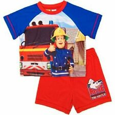 New Boys Licensed Fireman Sam Summer Pyjamas, set, Sleepwear, Sizes 2,3,4,5,6