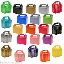 Polka Dots Spots Children's Birthday Party Coloured Paper Lunch Loot Gift Boxes