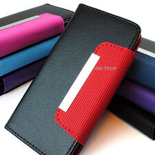 For Alcatel One Touch Fierce 7024W Flip Wallet Hybrid PU Leather Case Pouch