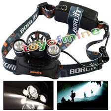 3*6000Lm CREE XM-L T6 LED Bicycle Bike HeadLamp 18650 Torch Rechargeab