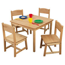 KidKraft Farmhouse Kids' 5 Piece Table & Chair Set With Four Wood  Chairs New