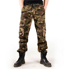 New Men's Casual Trousers Military Camouflage Pants Army Camo Cotton Cargo