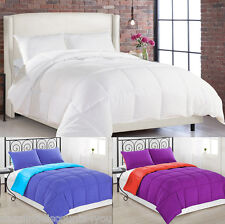 Goose Down Alternative Luxurious Reversible Comforter Twin, Queen and King