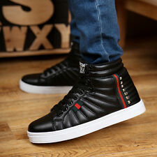 New Korean Men's High Top warm shoes Sneakers shoes Ankle Boots Casual Shoes