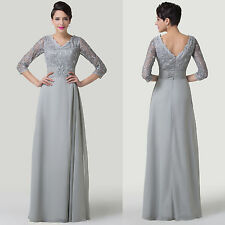 Sexy Women Chiffon Formal Long Gowns Bride Bridesmaid Evening Party Prom Dresses