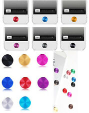 10x color fashion Aluminium Metal Round Home button Case Stickers For iphone 6s