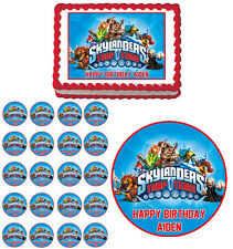 Skylanders Trap Team Edible Birthday Party Cake Cupcake Toppers Decorations