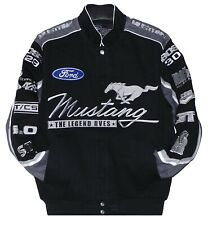 Authentic Mustang Cotton Black Gray Jacket  JH Design All Size Embroidered