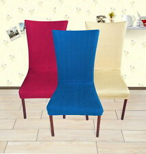 """""""4 Colors""""- Super Fit Stretch Tall Removable Dining Room Chair Cover flat Chd011"""