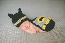 Baby Boy Newborn infant Knit Crochet Batman Photo Prop photograp Costume cloth