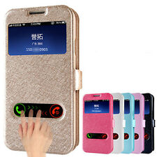 for Samsung Galaxy S4 I950 i9500 Window Leather Flip Case Cover Skin Elegant