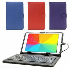 PU LEATHER KEYBOARD CASE COVER WITH STAND FOR SAMSUNG, LENOVO, LG TABLET