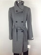 Calvin Klein Womens NWT Tint Gray Wool blend  Double breasted Coat , size 6