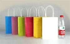 5x cute Party Bags Kraft Paper Gift Bag With Handles Recyclable Loot Bag PO