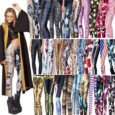 Hot Sexy Woman Digital Printing Stretchy Skinny Leggings Pencil Pants Trousers
