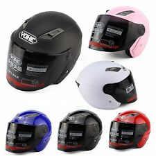 New Capacete Face Motorcycle Protect Helmet with Full Face Shield Visor 3/4 Open