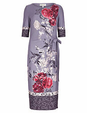 MARKS AND SPENCER PER UNA MIDI WRAP FLORAL DRESS UK 8 - 18 M&S