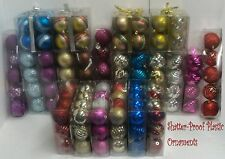 Shatter-Proof Christmas Tree Ornaments - Glitter - Fancy - NEW - Multi Colors