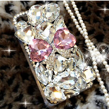 S2 luxury Bling Diamond Gem Flower Crystal Hard Case Cover for Various Phones