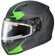 HJC CL-17 Mission Electric Snow Helmet Matte Black/Green Adult Size XS-3XL