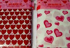 """New Valentine's Day Flannelback Tablecloths Hearts 54"""" x 108"""" 2 designs"""