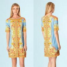 Hale Bob Dress Jersey Paisley Printed Blue New NWT Calistro Size XS-S-M-L