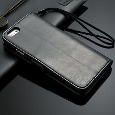 Luxury Genuine Real Leather Flip Stand Wallet Case Cover For Apple iPhone 5c