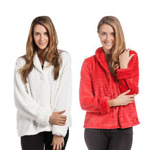 FOREVER DREAMING Luxury Ladies Womens Snuggle Top Bed Jacket Collar Fleece Cosy