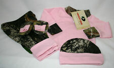 MOSSY OAK CAMO 4PC BABY INFANT SET - PINK CAMOUFLAGE