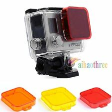 3 Colors Diving Underwater Lens Filter Cover Protector For GoPro HD HERO 3+ 4