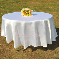 """90""""/108"""" Round Tablecloth Banquet Wedding Restaurant Party Table Decoration New"""
