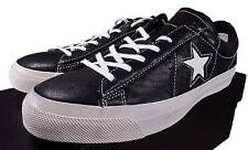 Converse X John Varvatos ONE Star Player ALL STAR Leather Oxford BLACK 145368C