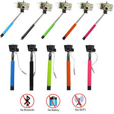 Extendable Selfie Stick Monopod Wired Pole For iPhone Samsung HTC Sony Huawei LG