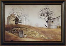 OLD ROOT CELLAR by Billy Jacobs 15x21 FRAMED PRINT Farm Barn Primitive Picture