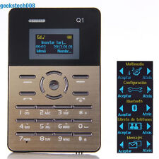 "Ultra Slim Mini Pocket OLED Cell Mobile Phone GSM MP3 Bluetooth 1.0"" Card Size"