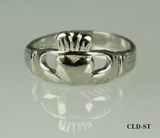MENS LADIES UNISEX 925 STERLING SILVER CLADDAGH RING SIZE 4-10 ~ST~