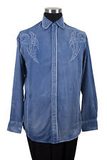 Men's casuasl shirt with embroidered design by Milano Moda Style SG43