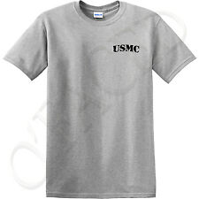 USMC T-shirts for Men on the left side of Adult size Memorial Day Marine gift