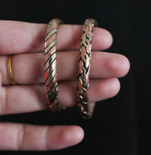 Tibetan Jewelry Ethnic Three Metal Braided Bracelet Cuff Bangle Nepal