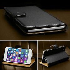 """Real Genuine Leather Flip Wallet Case Cover For APPLE iPhone 6 4.7"""" 6 Plus 5.5"""""""
