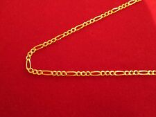 Men's Women's Real 10k Gold Figaro Hollow Chain 16 - 24 inch