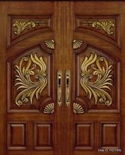 CUSTOM BUILT SINGLE or DOUBLE ENTRY SOLID WOOD FRONT DOOR. TOP QUALITY!