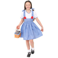 GIRLS DOROTHY KANSAS GIRL COSTUME BOOK WEEK FANCY DRESS CHILDRENS CHARACTER
