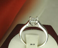 Vintage Style PRINCESS CUT WOVEN CATHEDRAL SOLITAIRE  ENGAGEMENT WEDDING RING