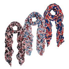 England UK British Flag Union Jack Small Print Fashion Scarf Wrap