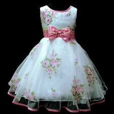 Baby Girls Flower Rose Party Princess Costumes Birthday Dress Age 3-8 Y
