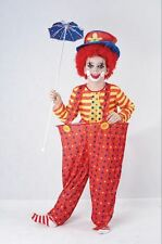 Child Circus Funny Hoop Clown Girls / Boys Fancy Dress Kids Party Costume Outfit
