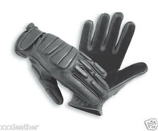 LEATHER GLOVES IDEAL FOR COMBAT, POLICE, RIOT, SECURITY & TACTICAL