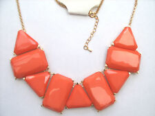 Statement Acrylic Gemstone Gold chain Necklace Costume Fashion Party Jewellery.